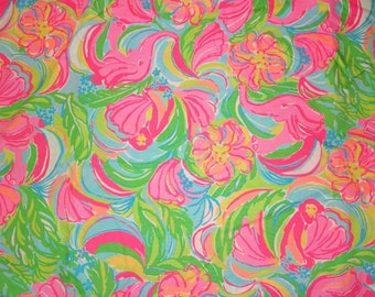 Lilly Pulitzer signature fabric So A Peeling cotton poplin 3sizes.6 X 6,  9 X 18 or 18 X 18 inches
