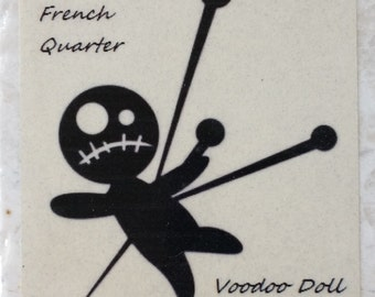 Voodoo Stick Pin Doll Coaster