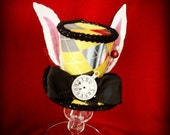The white rabbit meets  the red queen version mini top hat fascinater costume Alice in wonderland