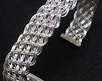 Sterling Silver Weaved Bracelet