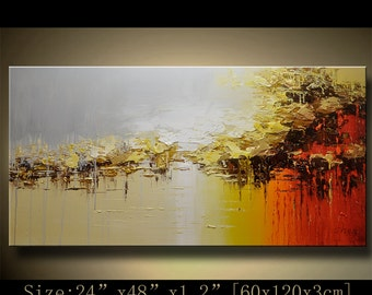Abstract Large ORIGINAL Painting Modern Textured Painting,  Palette Knife, Home wall art Decor, acrylic art Painting on Canvas  by Chen hh73