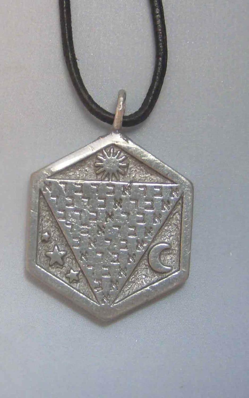 Amulet Jewelry Pendants Sothon: Talisman Abracadabra Abraxa Pendant Charm Amulet Sterling