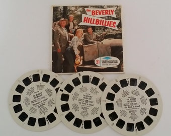 Vintage 1963 Sawyer's View-Master 3-D Reels- Beverly Hillbillies TV Show, Elly Starts to School, Elly Clampett B570, 3 Reels and Envelope