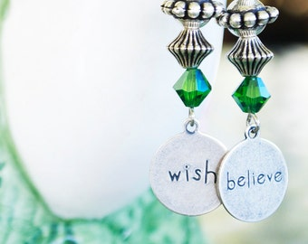 Wish Believe Fairy Earrings Fantasy Jewelry