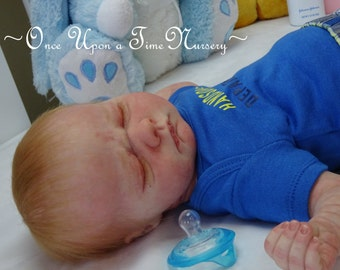 Free Shipping Realborn baby boy Sawyer reborn by Artist Rhonda Bartley Realborn Asher asleep sculpt by Denise Pratt