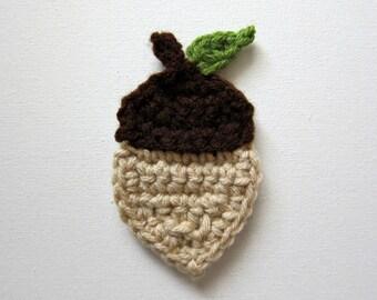 """1pc 4"""" Crochet ACORN Applique"""