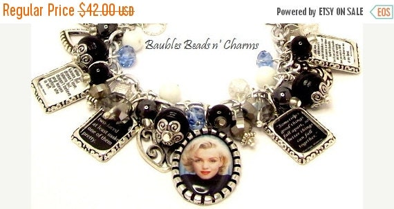 ON SALE Marilyn Monroe Quotes Charm By Baublesbeadsncharms