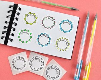 25 Mini-Prompt Journal Stickers