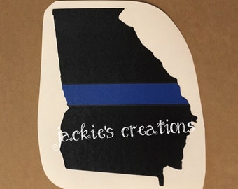 Thin Blue Line State Decal/Police Decal/Police Wife Decal
