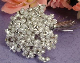 Bridal Bouquet Decorative Beaded Pearls for Wedding Bridesmaids and Brides Bouquets and Corsages
