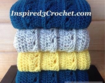 Crochet Infinity scarf- Handmade Crochet Knit Infinity Scarf Crochet Oversized Textured Knit Trendy scarf