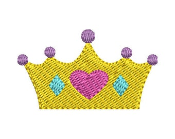 Mini Crown Embroidery Design - Instant Download