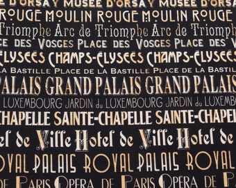 ℳ I Dream of Paris 100% Cotton 45 Inches Wide FC12042 Fabric by the yard - 1 yard