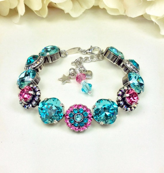 "Swarovski Crystal Bracelet - 12MM/ 8.5mm - ""Rosetta"" - Designer Inspired - Classy & Beautiful -  Embellished Wrist Candy - FREE SHIPPING"