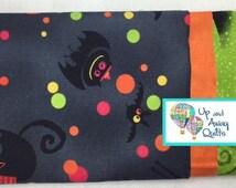 Pillowcase Kit - Black Halloween Bats, Cats, Ghosts