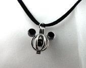 Mickey Mouse Pearl Cage Pick A Pearl or Wish Pearl Epcot  Mickey Head Black Bead