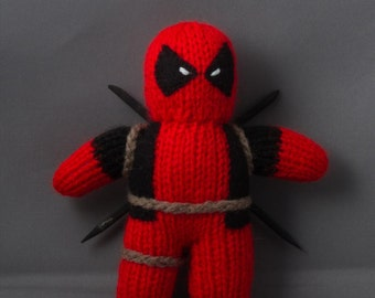 Deadpool, Hand Knitted, Toy, Plushy, Mascot