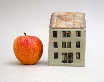 Small House , Quayside Building, Ceramic Sculpture,, Miniature Architecture