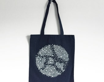 SALE / Constellation tote bag / reusable shopper bag / screen printed tote bag / navy blue tote bag / eco tote bag / Limited edition of 50