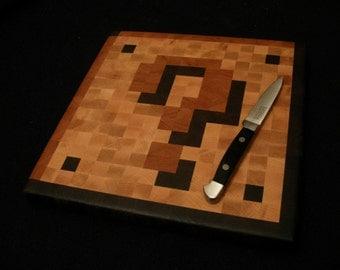 8-Bit Mario Coin Block - Cutting Board - Wood Pixel Art