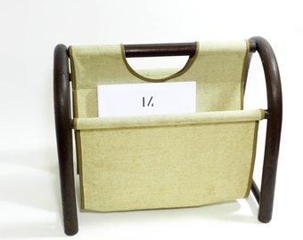 Vintage magazine rack from the 80s, vintage burlap