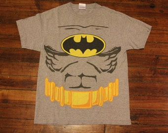 vintage batman shirt - batman utility belt batman costume halloween costume medium