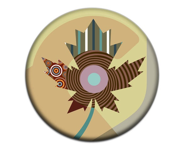 """Canada Maple Leaf Refrigerator Magnet, Canadian Gift, Canadian Shop, Toronto Maple Leaf,  2. 25"""" diameter,  0.25"""" thick"""