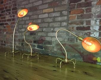 Alien brass gooseneck light/lamp