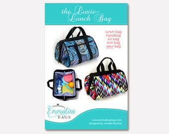 The Luxie-Lunch Bag - PDF Sewing Pattern - Lunch Bag, Handbag, Toiletries Kit Bag.