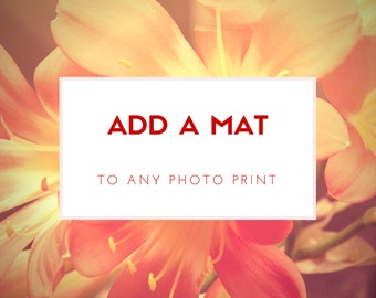 Add on - Add a matt to any photographic print in my shop, 8x10, 8x12, 11x14, 12x18 or 16x20