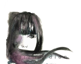 Beauty Illustration / Fashion Illustration Art Print from Original Watercolor