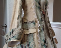 Green and Gold Lolita Rococo Jack Sparrow Pirate Coat