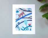 Illustration // Poster // Digital art print on paper // King Monkey