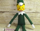 "Pokemon Pikachu Inspired 12"" Doll or Holiday Elf Mask ~ Custom Elf Mask"
