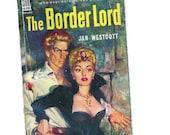 vintage paperback book, vintage Dell paperback, map back Border Lord #439