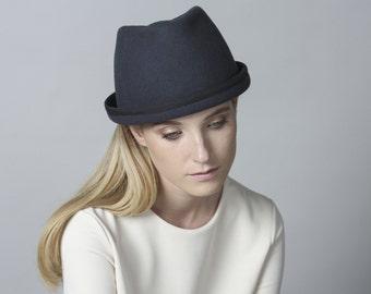 Fashionable Fedora Hat , Winter Hat , Women's Hat , Felt Hat For Men , Hats , Men's Felt Hat , Custom Fedora Hat