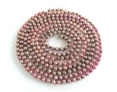 """VINTAGE PINK GARLAND - Vintage Christmas - Glass Beaded - Beads Strand - 94"""" Long - 3/8"""" wide Beads"""