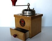 Vintage wooden Coffee Grinder, Stahlmahlwerk, MOCCA grinder, Made in W. Germany, Small Kitchen appliance, gift idea