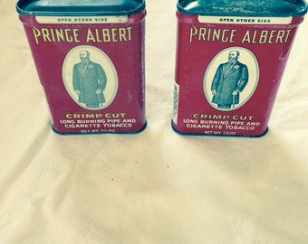Two Prince Albert tobacco tins   vintage