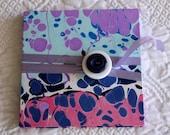 SALE Handmade Brag Book Hand-Marbled Hard Cover Blank Accordion Book