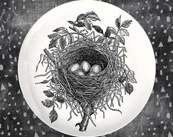 bird nest melamine plate