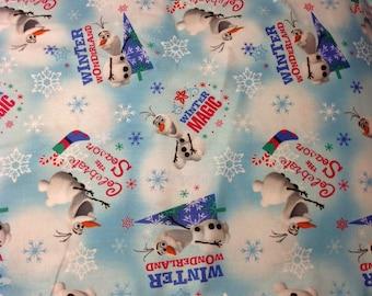Disney Frozen Olaf Fat Quarter 100% Cotton Fabric Material