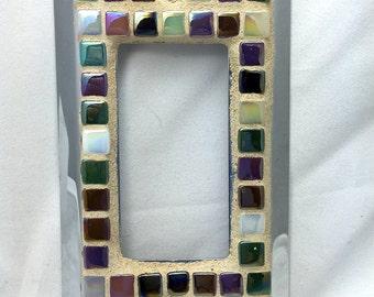 Single mosaic switch plate
