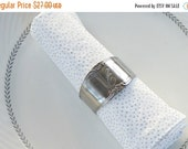 "On Sale Set of 4 Vintage Stainless Custom Craft Napkin Rings, Engraved with an ""E"" Napkin Rings for Weddings, Home & Living"