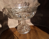 Antique glass compote