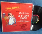 "Vintage, Zero Mostel, ""A Funny Thing Happened On The Way To The Forum"" Original Soundtrack, Vinyl LP, Record Album, Stephen Sondheim"