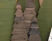 Customizable Rustic Cedar Fence Board Christmas Trees (Indoor/Outdoor)