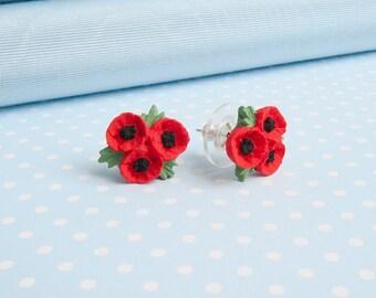 Poppy Trio Stud Earring