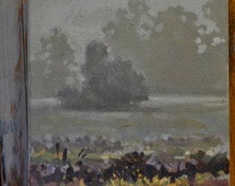 """8""""x8"""" original oil painting landscape"""