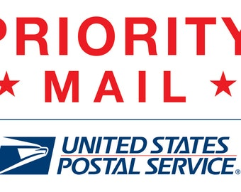 Rush order: USPS Priority Mail 2-3 day shipping